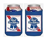 Pabst Blue Ribbon PBR 12oz Beer Can Kaddy Huggie Coolie Cooler Set of 2
