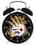 Steelers Twin Bells Alarm Desk Clock 4' Home Office Decor F07 Nice for Gifts