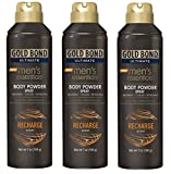Gold Bond Ultimate Men's Essentials Body Powder Spray, 7 Ounce, Recharge Scent (Pack of 3)