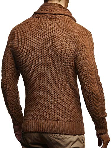 Leif Nelson Men's Knitted Jacket Turtleneck Cardigan Winter Pullover Hoodies Casual Sweaters Jumper LN4195 16 Fashion Online Shop gifts for her gifts for him womens full figure