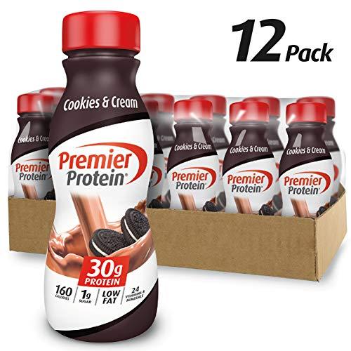 Premier Protein 30g Protein Shake, Cookies & Cream, 11.5 Fl Oz Shake, (Pack of 12)
