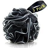 Bath Loofahs Sponge Shower Pouf Body Scrubber Ball Mesh Pouf Bath Sponge 3 Pack