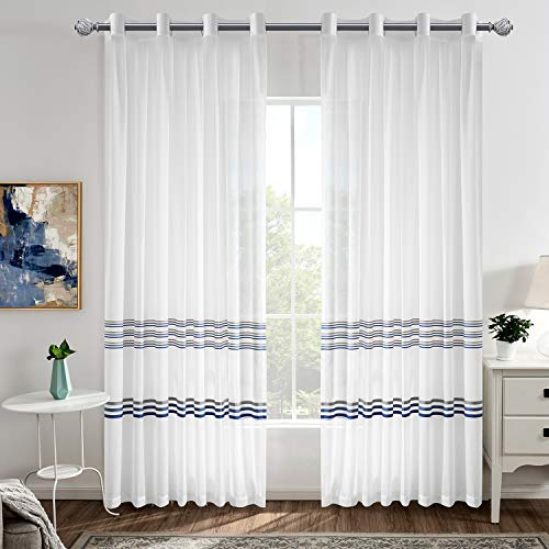 Striped Sheer Curtains