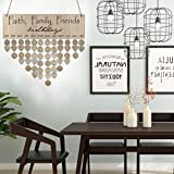 Family Friends Wooden Calendar Creative Birthday Anniversary Reminder Hanging DIY Plaque Cute Fashion Home Wall Decoration (B)