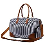Gimay Weekend Travel Bag Women Overnight Duffle Canvas Tote Bags ... (Blue)