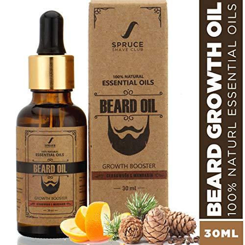 Spruce Shave Club Beard Oil For Beard Growth (30ml) - Cedarwood & Mandarin - 9 Natural Oils For Beard Growth 17