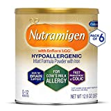Enfamil Nutramigen Hypoallergenic Colic Baby Formula Lactose free milk Powder, 12.6 Oz (Pack Of 6) - Omega 3 Dha, Lgg Probiotics, Iron, Immune Support