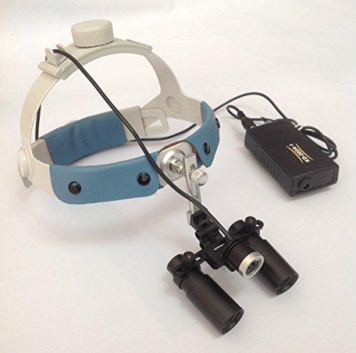 Songzi Optics 5X 6X Optionally available Headband Binocular Medical Surgical Dental Loupes with Led Headlight for Dentistry Surgical procedure Others (Working Distance: S (340mm), Magnification:6X) deal 50% off 516 JSfkCLL