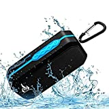 Bluetooth Wireless Speakers Waterproof IPX5 with HD Enhanced Bass Outdoor Wireless Portable Phone Speakers Built-in Mic Support FM AUX TF Card USB for iPhone iPad Android Phones Computer Etc. (Blue)