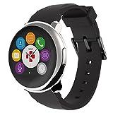 MyKronoz ZeRound - Elegant Smartwatch with circular touchscreen (Silver/Black)