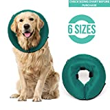 ProCollar Protective Inflatable Recovery Collar for Dogs and Cats - Soft Pet Cone Does Not Block Vision E-Collar - Designed to Prevent Pets from Touching Stitches, Wounds and Rashes (Large)