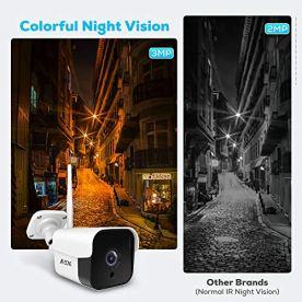 AZONE-Outdoor-Security-Camera-3MP-Bullet-Door-Camera-IP66-Night-Vision-Home-Surveillance-System-WiFi-Camera-Outdoor-Two-Way-Audio-Motion-Detector-AlarmRecording-Set-of-2