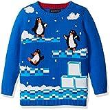 Blizzard Bay Little Boys' Penguin Video Game Sweater, White, Blue Combo, 6