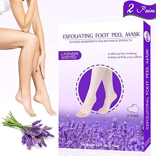 Foot Peel Mask 2 Pairs,Exfoliating Foot Peel Mask,Peel Away Calluses & Dead Skin, Repair Rough Heels in 1-2 Weeks