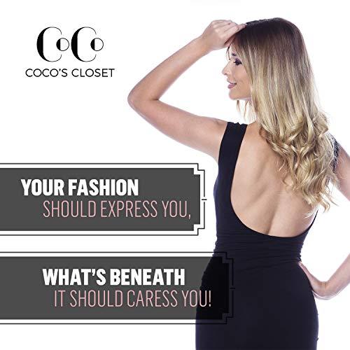 347cce012b534 Coco s Closet Low Back Bra – Adjustable Bra Extender for Backless Dress –  Nude 3 Hook Strap Converter