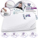 3 in 1 Universal Bassinet Wedge   Elevated Sleeping Pillow Helps Newborn Babies with Acid Reflux, Nasal Congestion, Colic   Adjustable Cushion Supports Healthy Sleep and Eating with Carrying Case