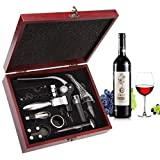 Wine Opener Set - Smaier Corkscrew,Wine Accessories Areator Wine Opener Kit with Wood Case