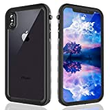 FXXXLTF iPhone Xs Max Waterproof Case, Heavy Duty Full Body Protective Clear Case Built in Screen Protector, Shockproof Snowproof Case Design for iPhone Xs Max (6.5inch,Black)
