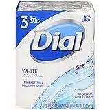 Dial Antibacterial Deodorant Soap, White, 4 Ounce (Pack of 3)  Bars
