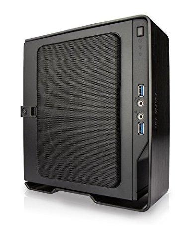 IN WIN 150W電源搭載 アルミシェルフロント採用 Mini-ITXケース Chopin-Black (型番:IW-BQ696B)