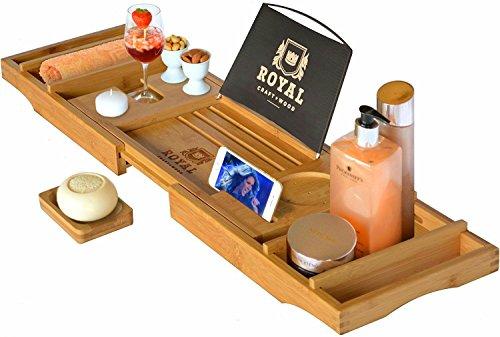 Royal Craft Wood Luxury Bathtub Caddy...