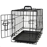 Paws & Pals 48' XXX-Large Dog Crate Double-Door Folding Metal - Wire Cage w/Divider & Tray for Training Pets - 48' x 29' x 32' - 2019 Newly Designed Model