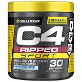 Cellucor C4 Ripped Sport Pre Workout Powder + Thermogenic Fat Burner, Fat Burners for Men & Women, Weight Loss & Energy, Arctic Snow Cone, 30 Servings