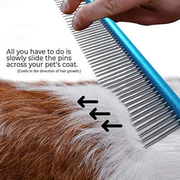 Paws-Pamper-Professional-Anti-Corrosion-Grooming-Comb-for-Dogs-Cats-Tapered-Stainless-Steel-Pins