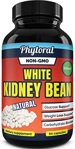 White Kidney Bean Supplement Pills Pure Extract Starch Carb Blocker Weight Loss Formula - Lose Belly Fat Suppress Appetite Boost Metabolism Natural Weight Loss for Men and Women by Phytoral 4