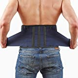 Back Support Lower Back Brace Provides Back Pain Relief - Breathable Lumbar Support Belt for Men and Women Keeps Your Spine Straight and Safe (XL - 46''- 53' at Navel Level)