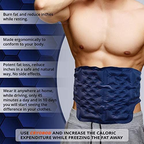 CRYOBOD Fat Freezing Belt |Cold Body Sculpting -Cold Wrap/Belt | Cold Sculpt Target Belly-Waist & Love Handles | Tone Up Stomach | Waist Trainer-Ultimate Freeze Wrap Skin-Safe Cryolipolysis 4