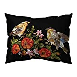 charmsamx Vintage Floral Pillowcase Black Background Retro Flower Pattern Country Europe Style Decorative Throws Cushion Covers for Bedding Chair Cushion