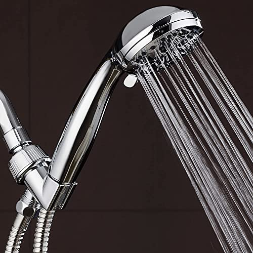 """AquaDance High Pressure 6-Setting 3.5"""" Chrome Face Handheld Shower with Hose for the Ultimate Shower Experience! Officially Independently Tested to Meet Strict US Quality & Performance Standards 13"""