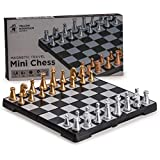 Yellow Mountain Imports Magnetic Travel Chess Mini-Set - 6.3 Inches