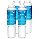 Waterdrop Refrigerator Water Filter, Compatible with GE MSWF, 101820A, 101821B, 101821-B, Standard, Pack of 4