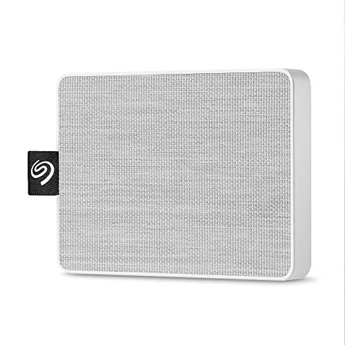 Seagate One Touch SSD 1TB External Solid State Drive Portable – USB-C USB 3.0 for PC Laptop and Mac - White (STJE1000402) 1