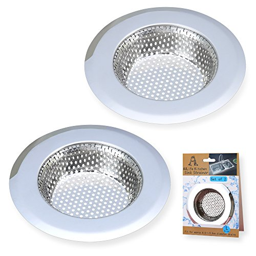 A AULIFE Stainless Steel Kitchen Sink Strainer, Large Wide Rim 4.5'...