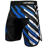 Hayabusa Metaru Charged Brazilian Jiu Jitsu and MMA Shorts (Black/Blue, 30)
