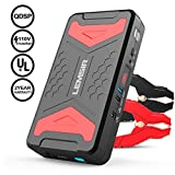 LEMSIR QDSP 2200A Peak 21000mAh Car Jump Starter 12V Auto Battery Booster 10.0L Gas or 10.0L Diesel Portable Power Pack with 110V Inverter and Bulit-in Smart Protection V3