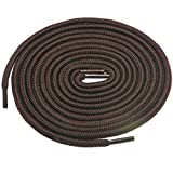 Birch 1/5' Thick Tough and Heavy Duty Round Boot Laces for Boots and Hiking Shoes. (45'(115cm)-S, Dark Brown)