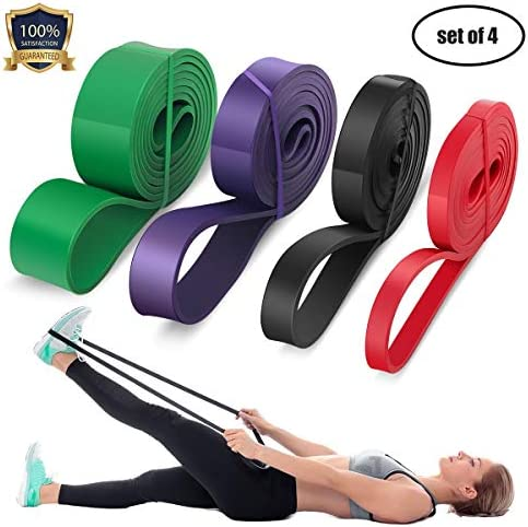 LEEKEY Resistance Band Set, Pull Up Assist Bands - Stretch Resistance Band - Mobility Band Powerlifting Bands For Resistance Training, Physical Therapy, Home Workouts (Set-4) 3