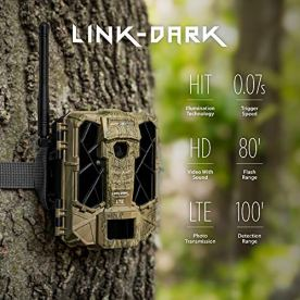 SPYPOINT-LINK-DARK-Cellular-Trail-Camera-42-LED-Invisible-Infrared-Flash-Game-Camera-with-80-foot-Flash-and-100-foot-Detection-Range-LTE-Capable-Cellular-Trail-Camera-12MP-007-second-Trigger-Speed