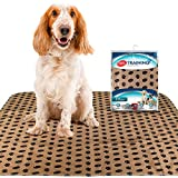 Simple Solution Large Washable Puppy Pad   Reusable Dog Pee Pad   Absorbent and Odor Controlling   30x32 Inches, 2 Count