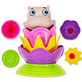Munchkin Garanimals Stacking Cups Bath Toys Set - 5 Pcs (Hippo Bath Squirter and 4 Magic Color Stackers) (Hippo Set) (Hippo Set)