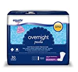 Equate Overnight Incontinence Pads for Women, Ultimate, 30 Ct - 3 PACK