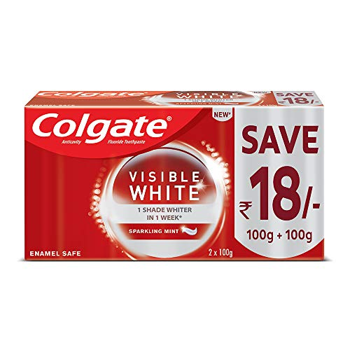 Colgate Visible White Teeth Whitening Toothpaste With Sparkling