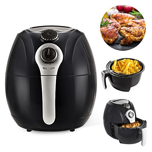 Simple Chef Air Fryer - Air Fryer For Healthy Oil Free Cooking - 3.5 Liter Capacity w/Dishwasher Safe Parts 1