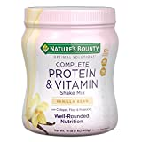 Nature's Bounty Optimal Solutions Protein Powder and Vitamin Supplement, Vanilla Bean, 1 lb