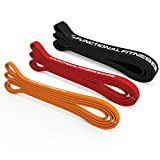 Rubberbanditz Pull Up Assist Bands Set of 3 by Functional Fitness. Light Weight Resistance and Assistance Training Bands. Tension Range 5-100 lbs