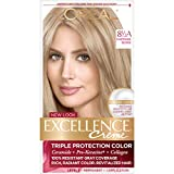 L'Oréal Paris Excellence Créme Permanent Hair Color, 8.5A Champagne Blonde, 1 kit 100% Gray Coverage Hair Dye